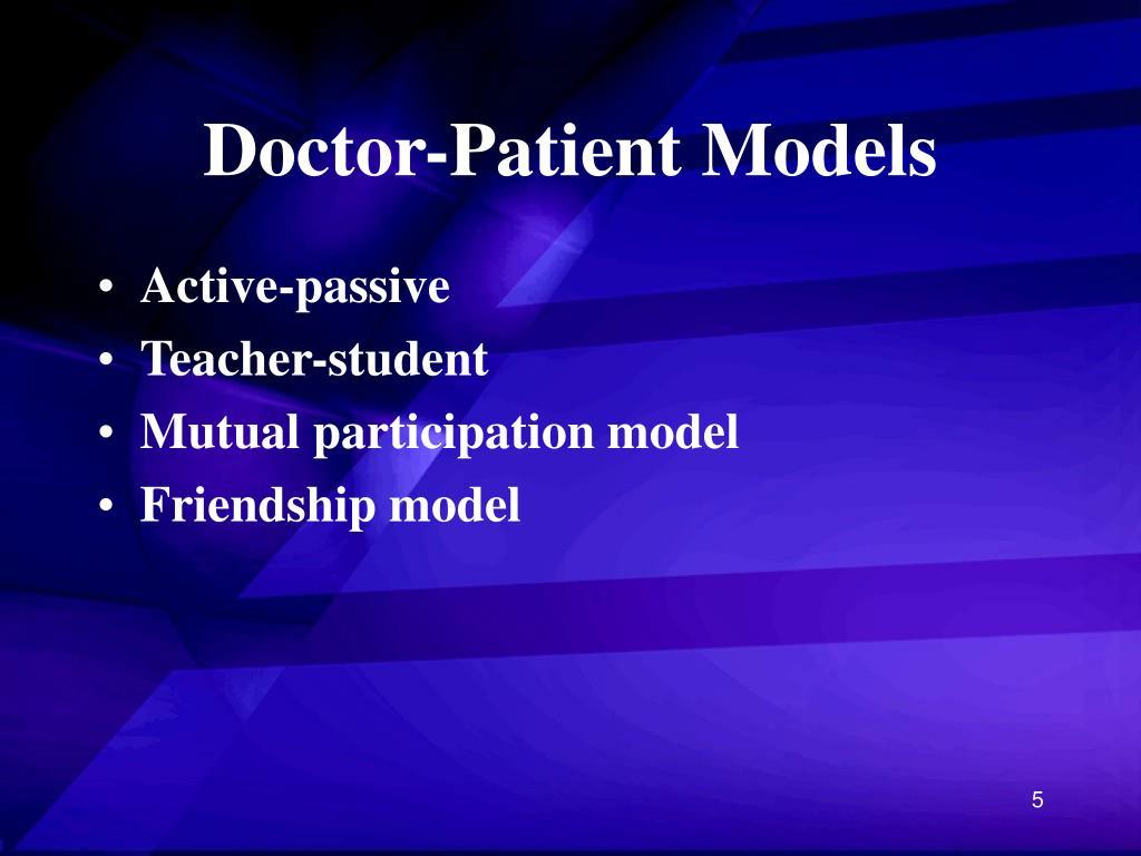 Doctor-Patient Models