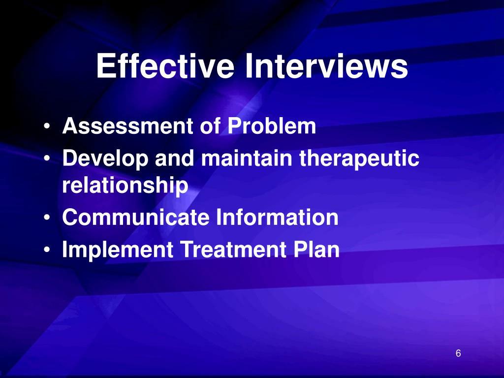 Effective Interviews