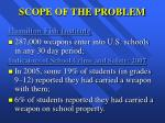 scope of the problem7