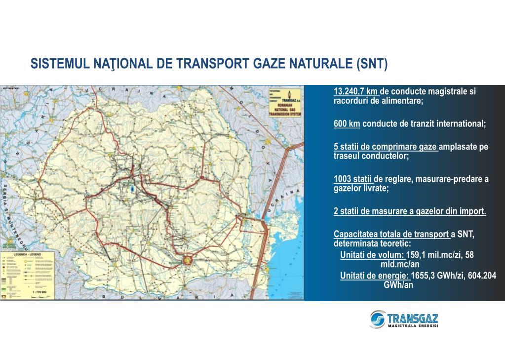 SISTEMUL NAŢIONAL DE TRANSPORT GAZE NATURALE (SNT)