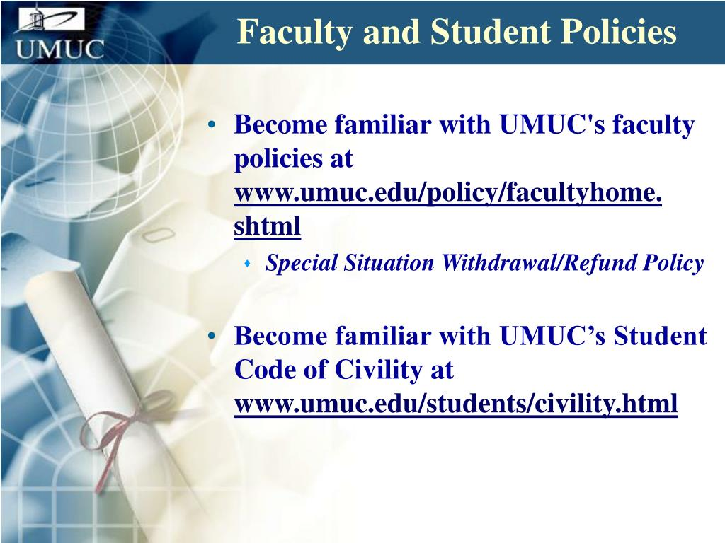 Faculty and Student Policies