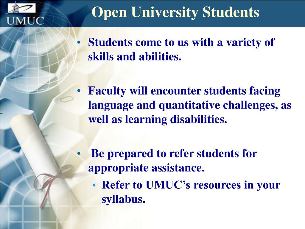 Open University Students