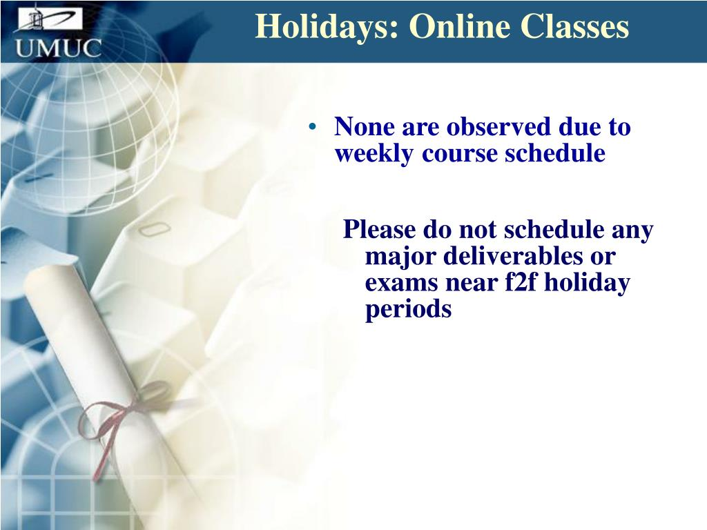 Holidays: Online Classes