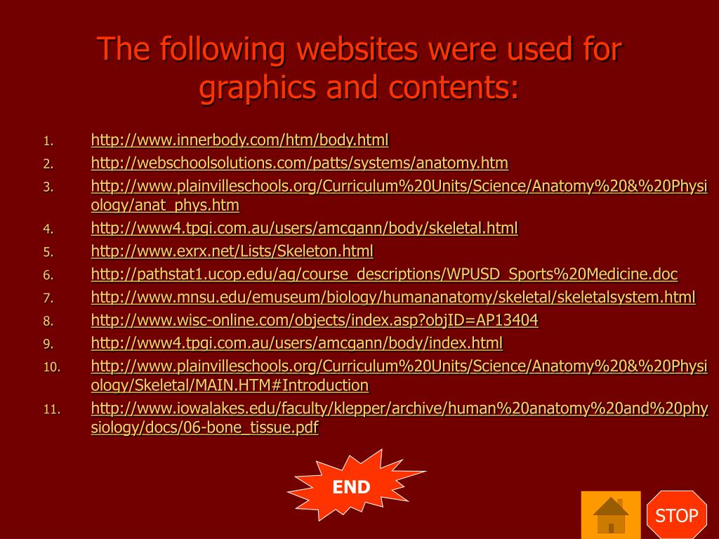 The following websites were used for graphics and contents: