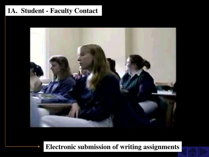 1A.  Student - Faculty Contact