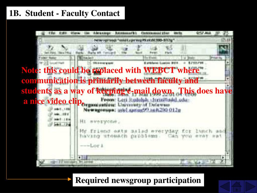 1B.  Student - Faculty Contact