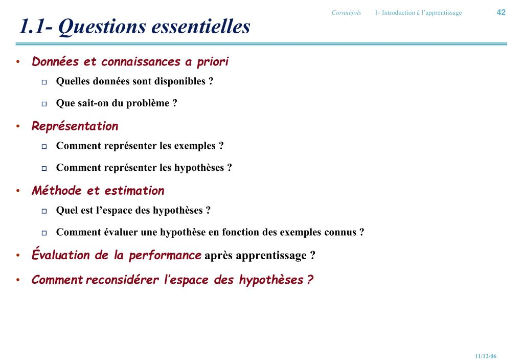 1.1- Questions essentielles