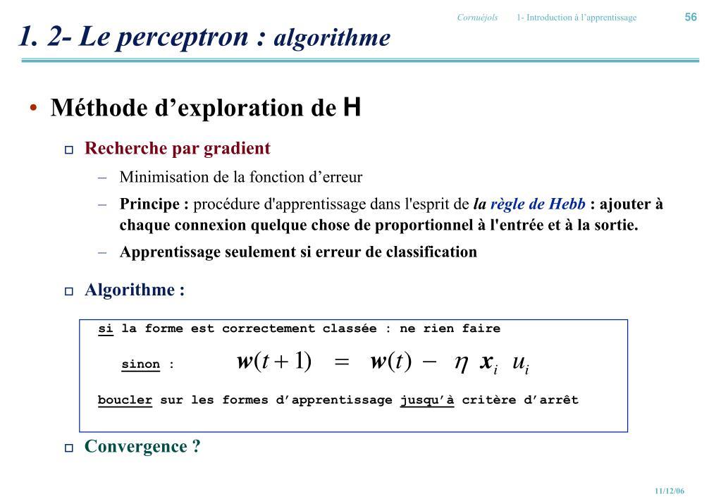 1. 2- Le perceptron :