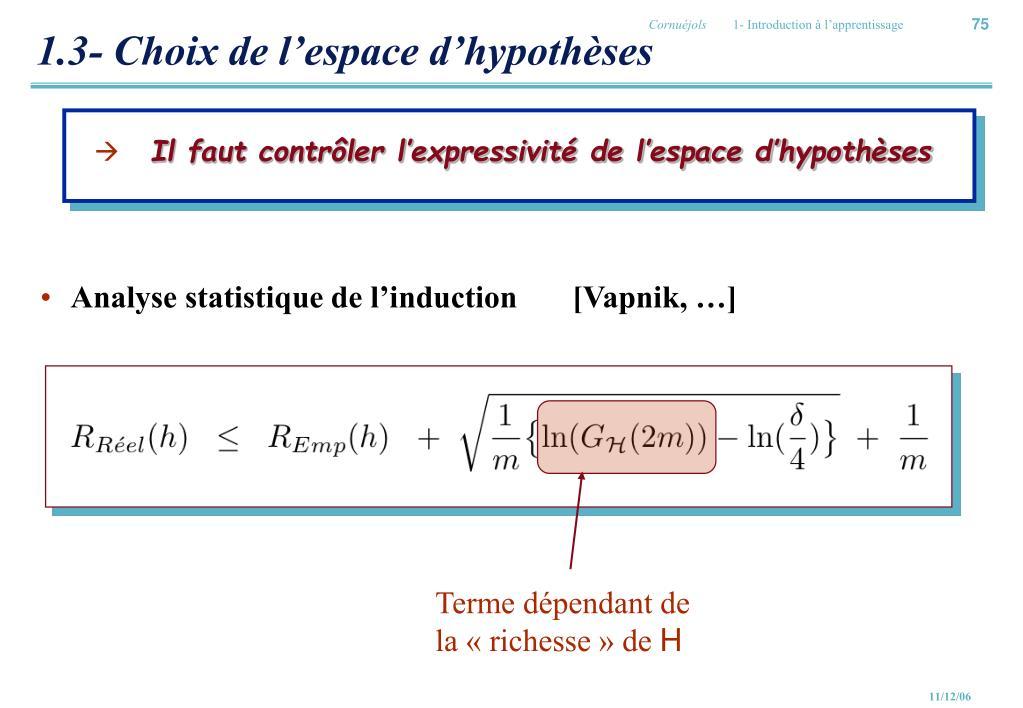 1.3- Choix de l'espace d'hypothèses