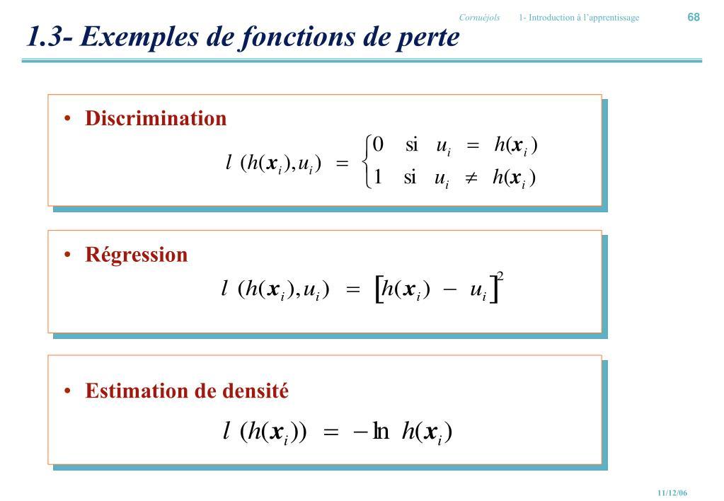1.3- Exemples de fonctions de perte