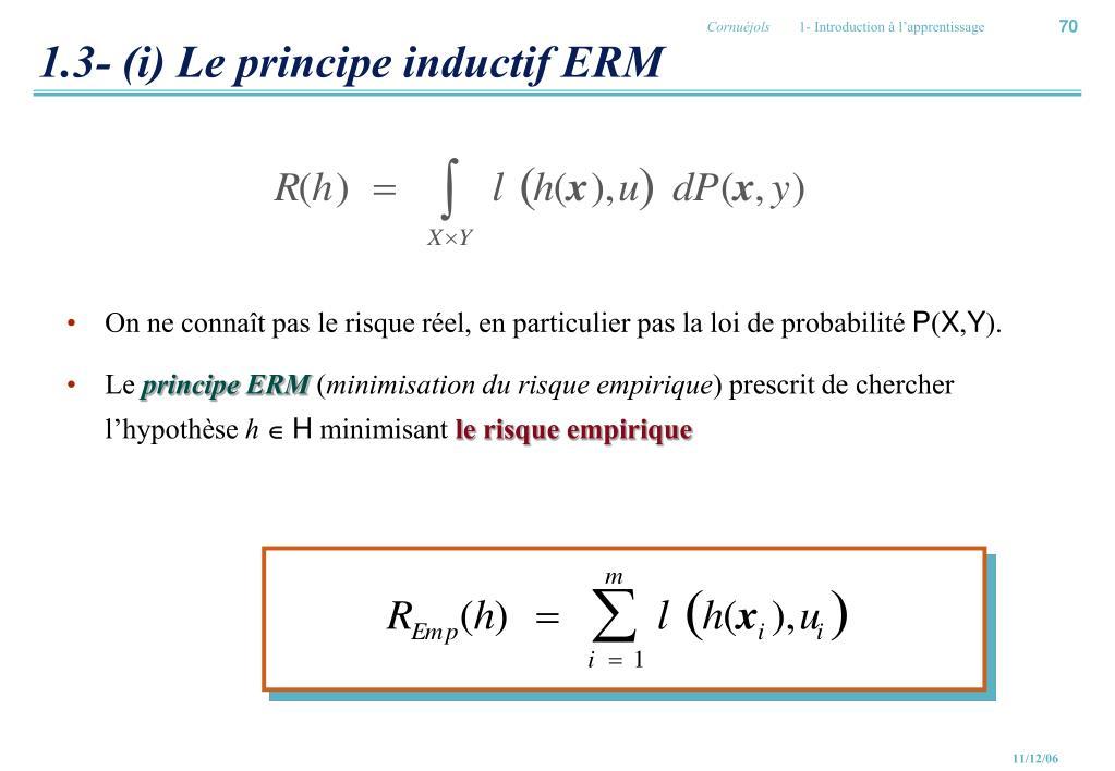 1.3- (i) Le principe inductif ERM