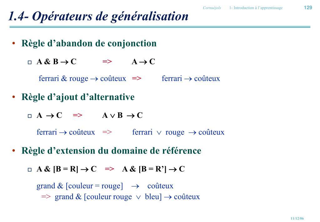 1.4- Opérateurs de généralisation