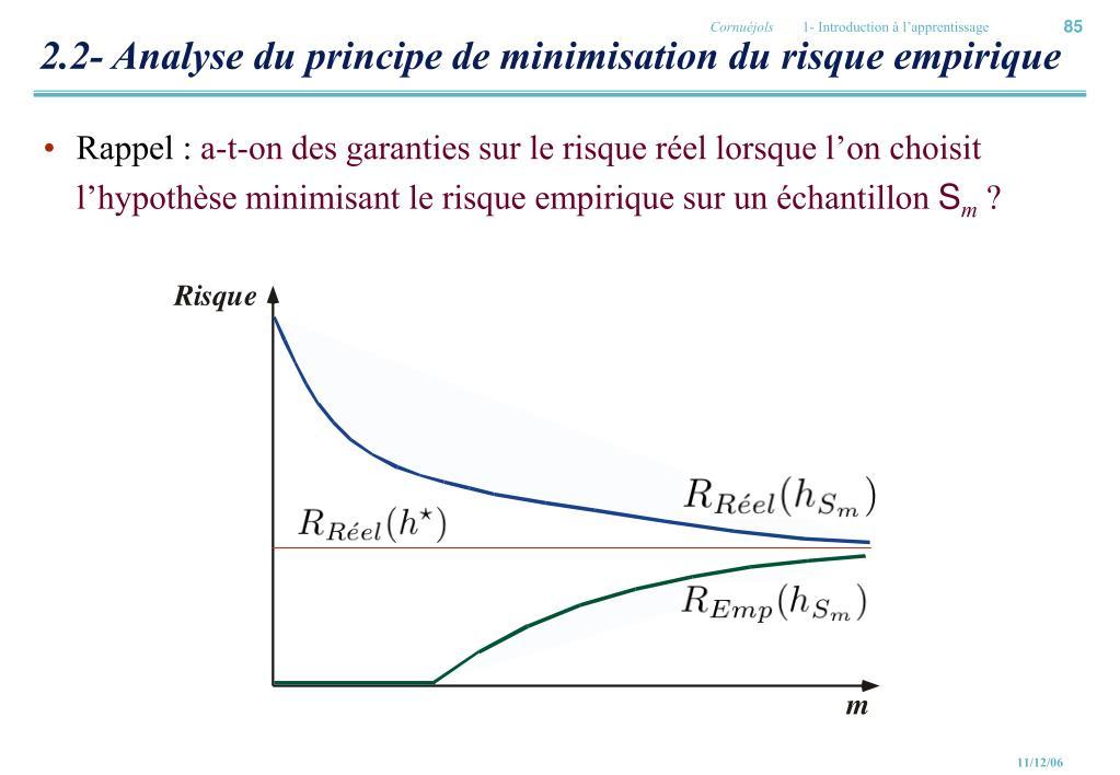 2.2- Analyse du principe de minimisation du risque empirique