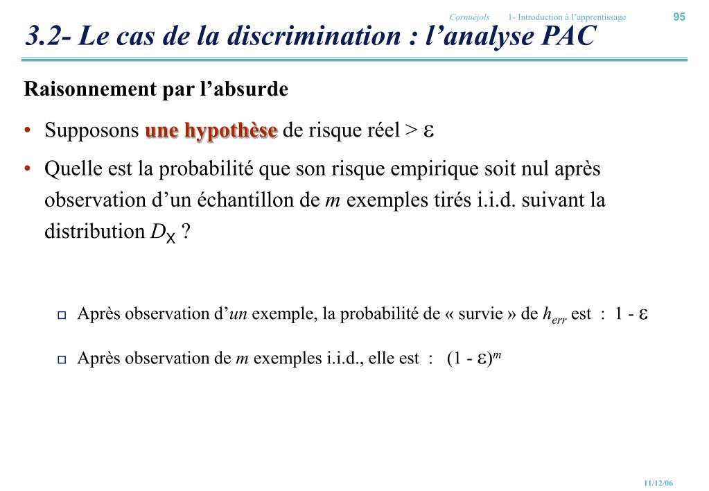3.2- Le cas de la discrimination : l'analyse PAC