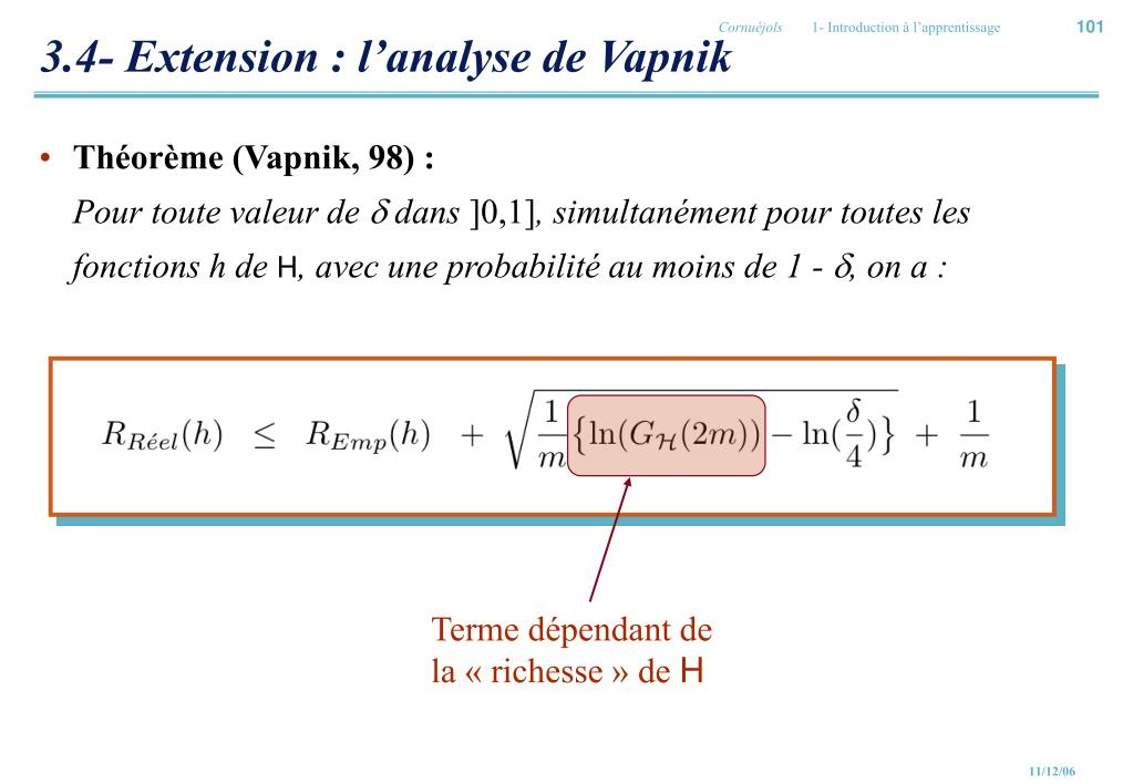 3.4- Extension : l'analyse de Vapnik