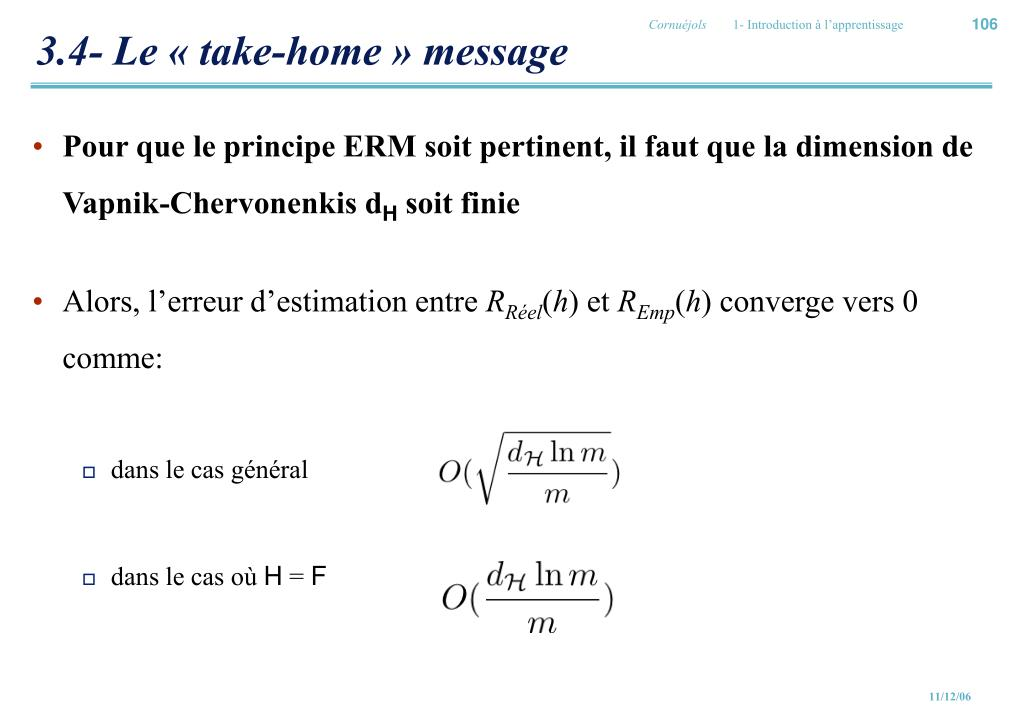3.4- Le « take-home » message