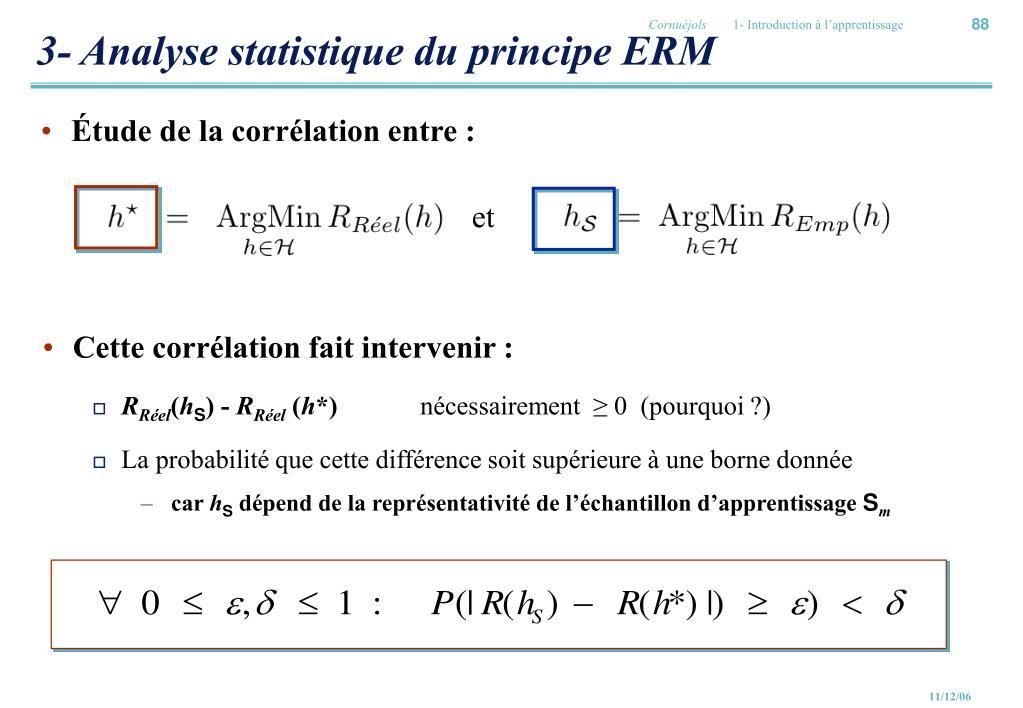 3- Analyse statistique du principe ERM