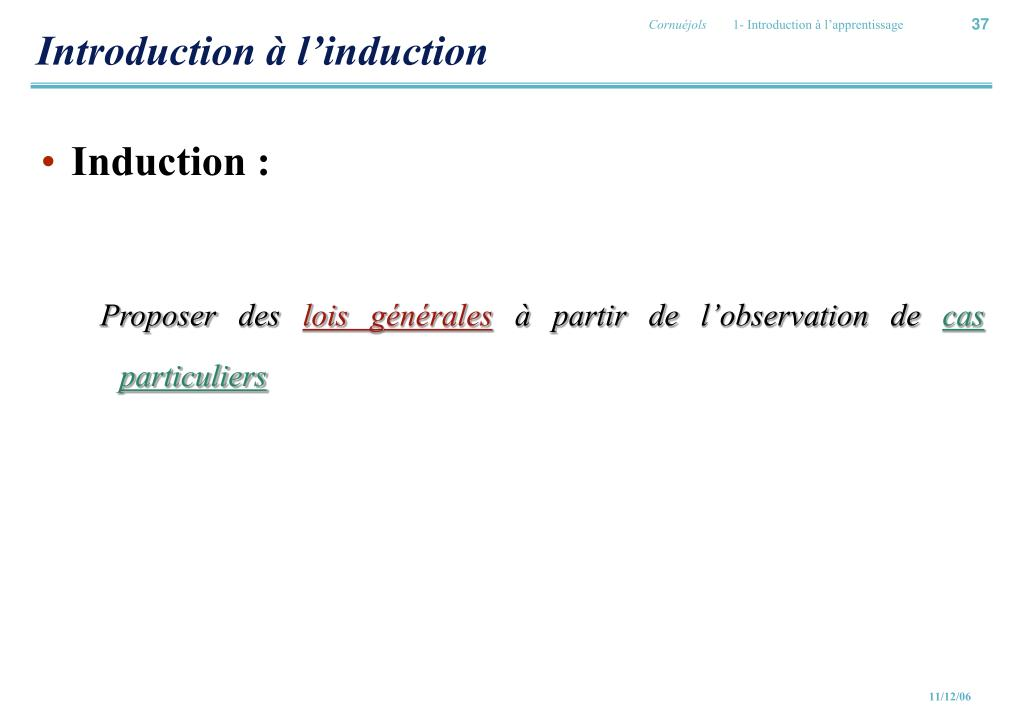 Introduction à l'induction