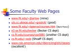 some faculty web pages