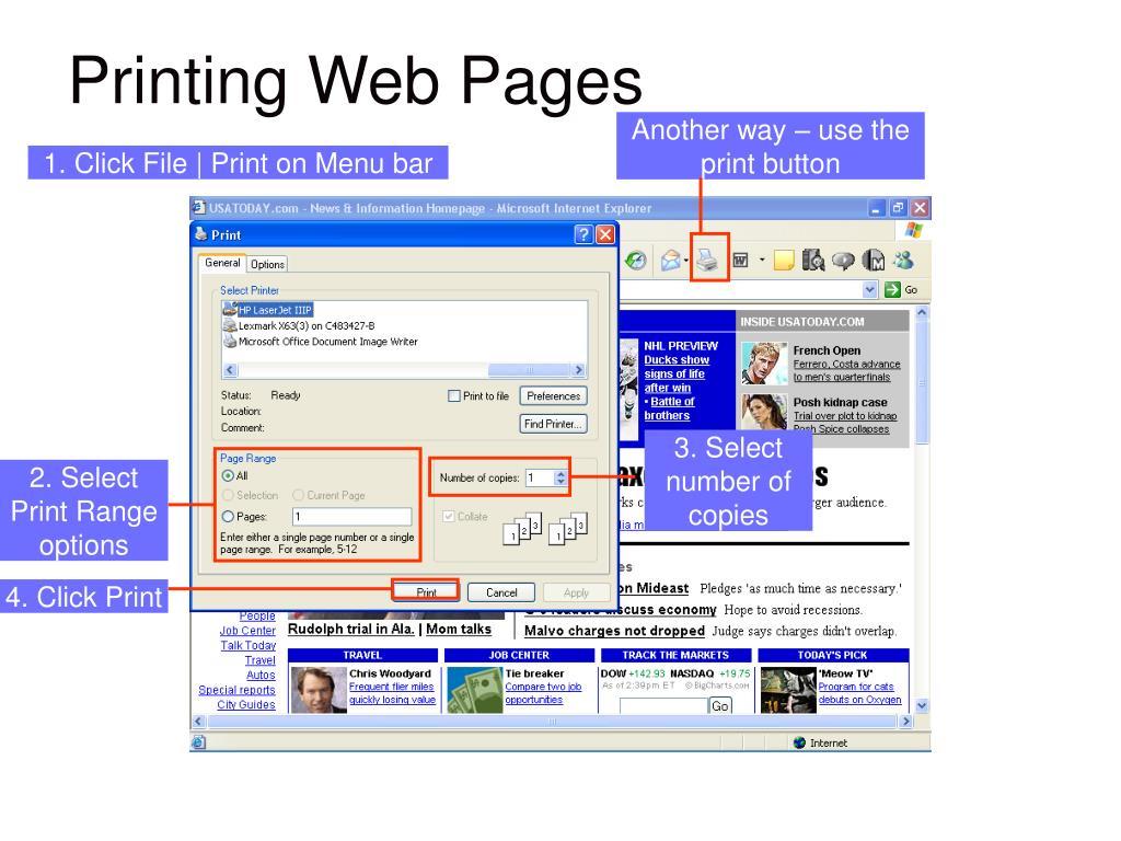 GRAPHCI showing: Print dialog box