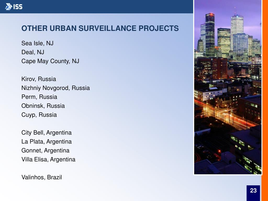 OTHER URBAN SURVEILLANCE PROJECTS