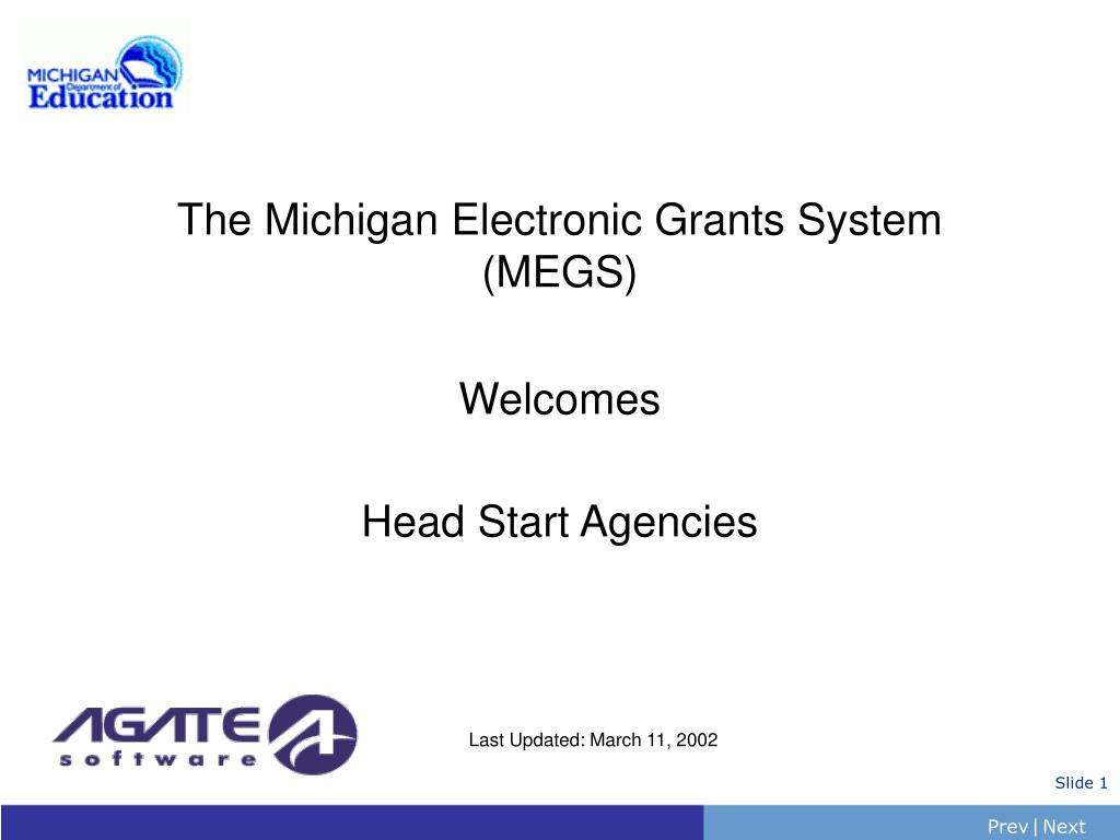 The Michigan Electronic Grants System (MEGS)