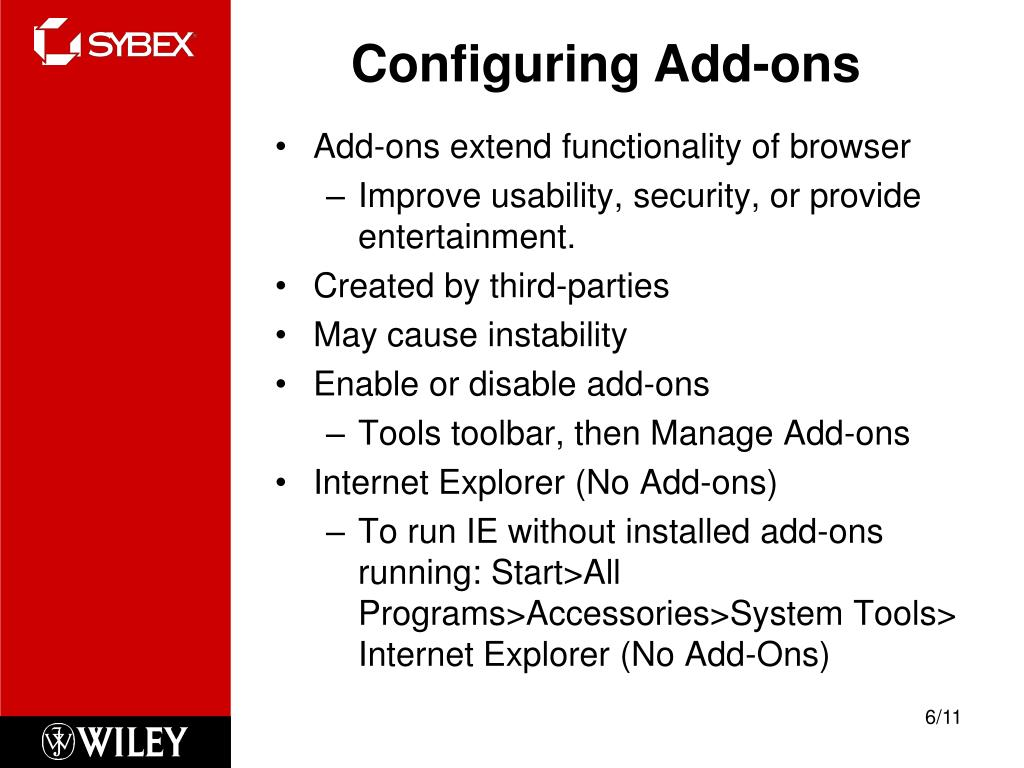 Configuring Add-ons