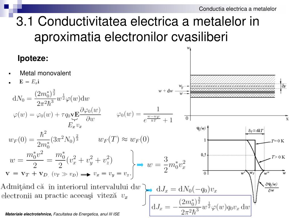 3.1 Conductivitatea electrica a metalelor in