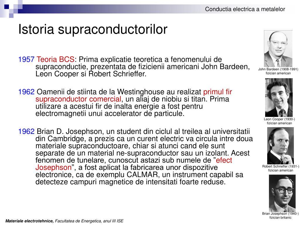 Istoria supraconductorilor
