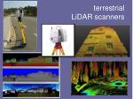terrestrial lidar scanners