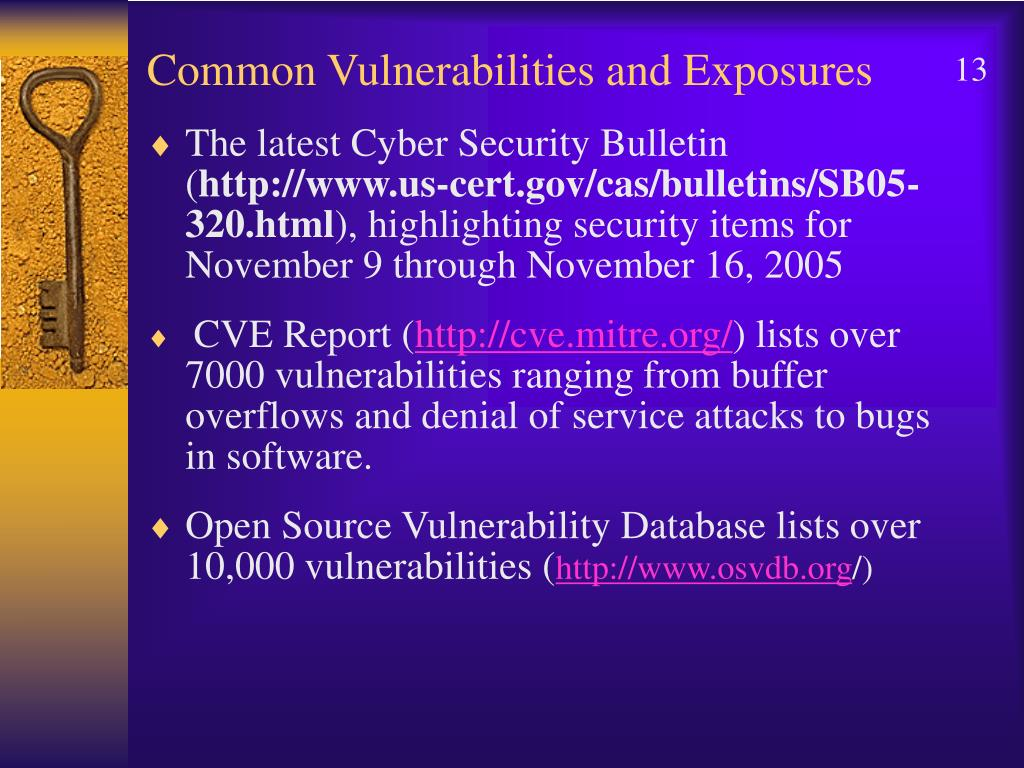 Common Vulnerabilities and Exposures