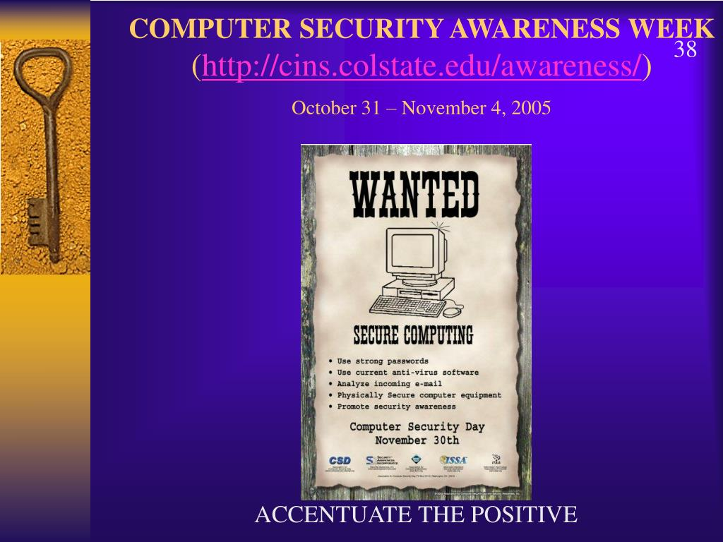 COMPUTER SECURITY AWARENESS WEEK