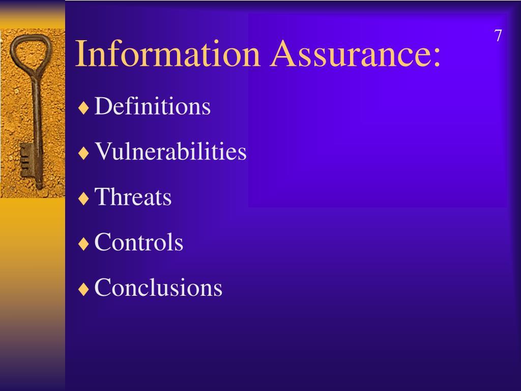 Information Assurance: