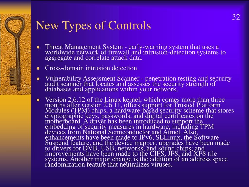 New Types of Controls