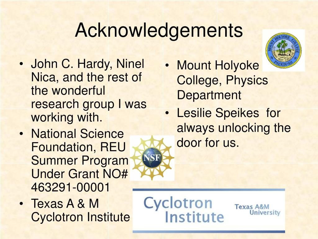John C. Hardy, Ninel Nica, and the rest of the wonderful research group I was working with.