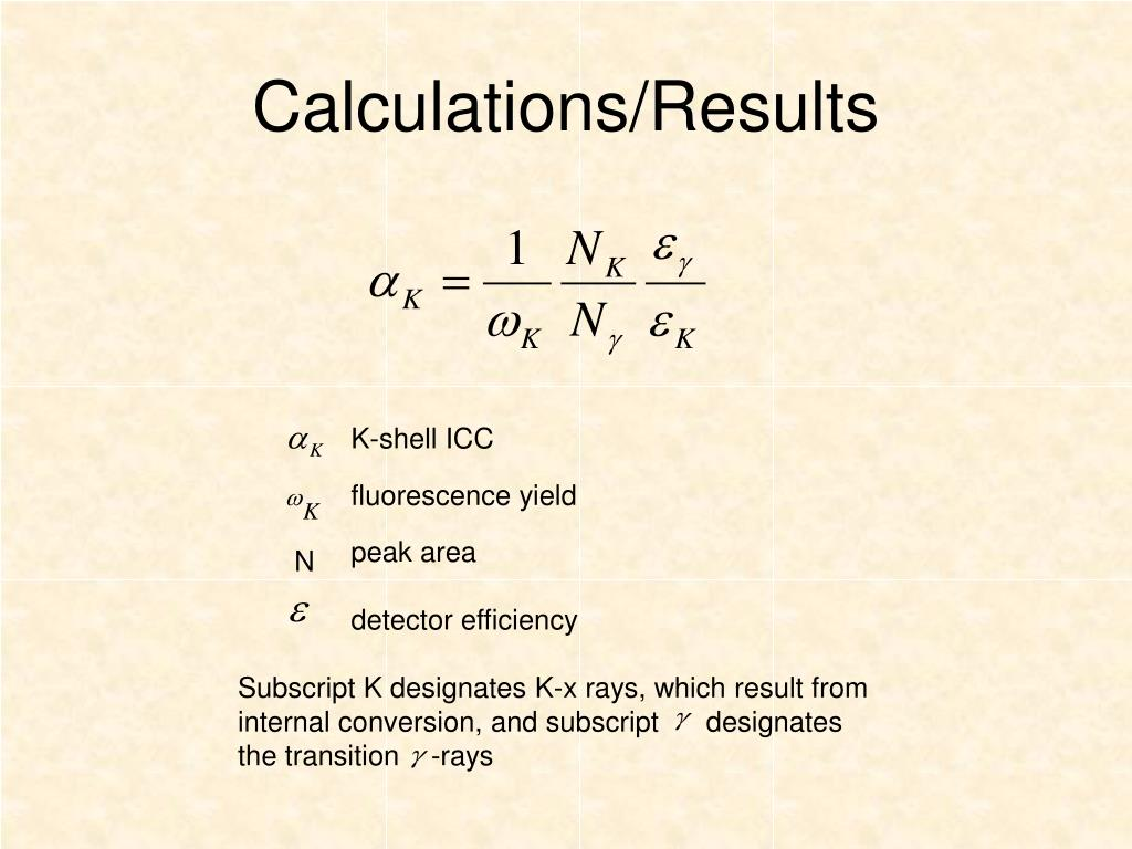 Calculations/Results