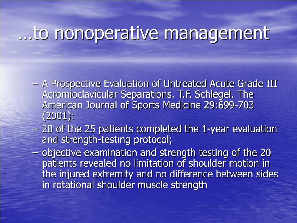 …to nonoperative management