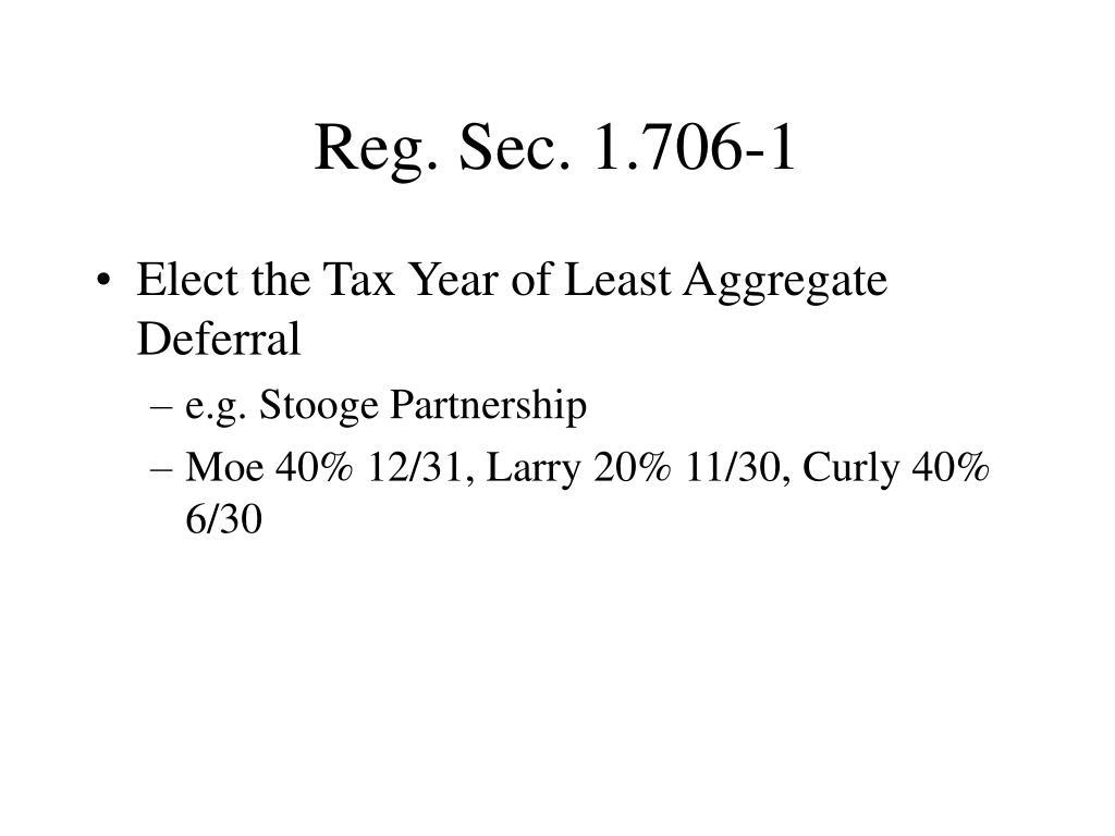 Reg. Sec. 1.706-1