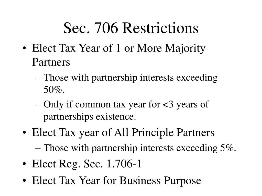 Sec. 706 Restrictions