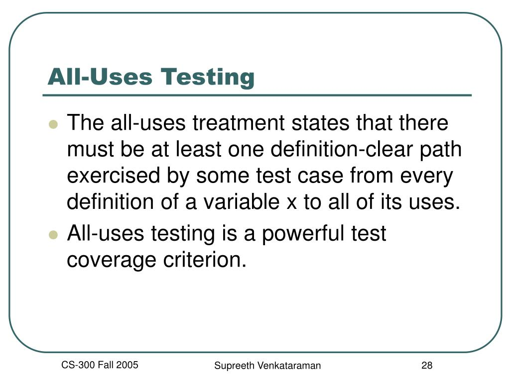 All-Uses Testing