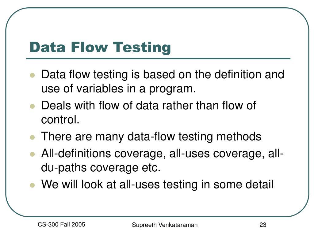 Data Flow Testing