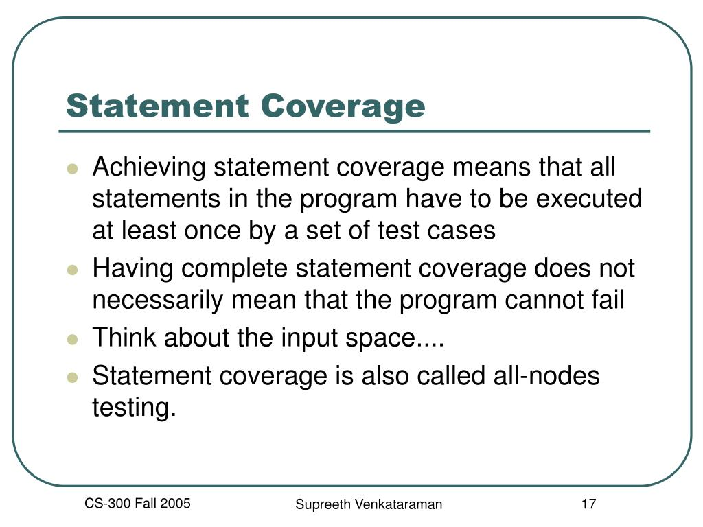 Statement Coverage