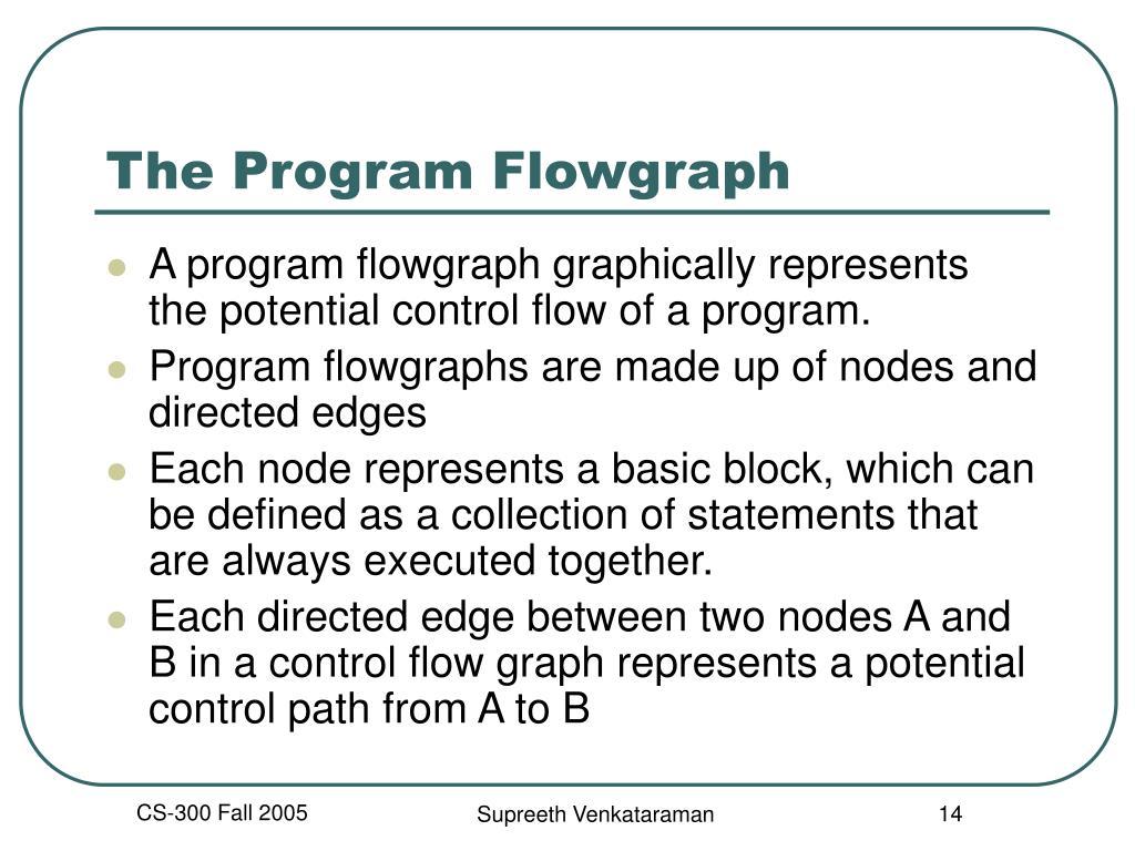 The Program Flowgraph