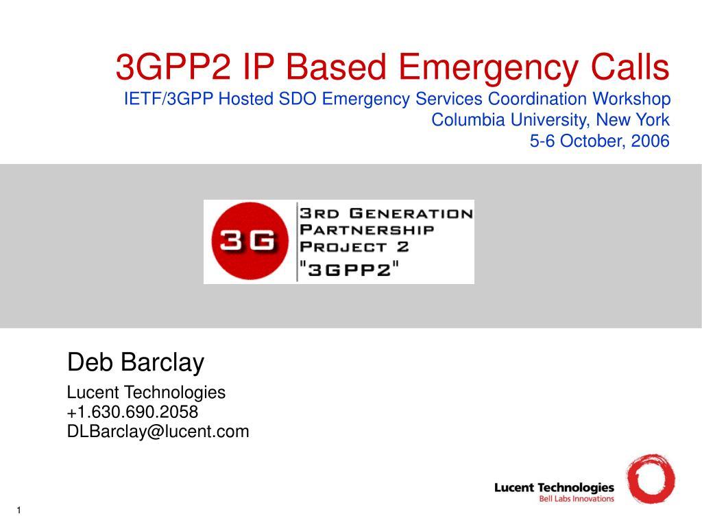 3GPP2 IP Based Emergency Calls