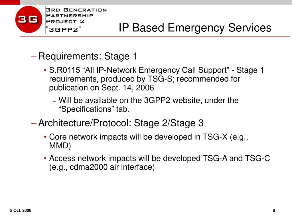 IP Based Emergency Services