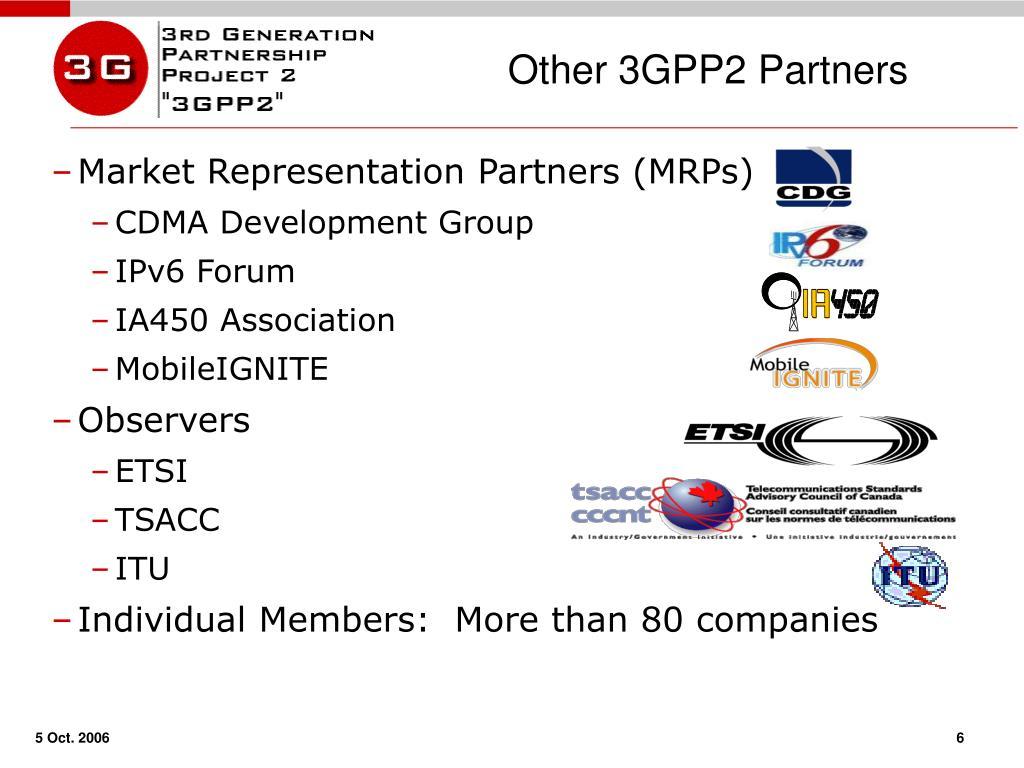 Other 3GPP2 Partners