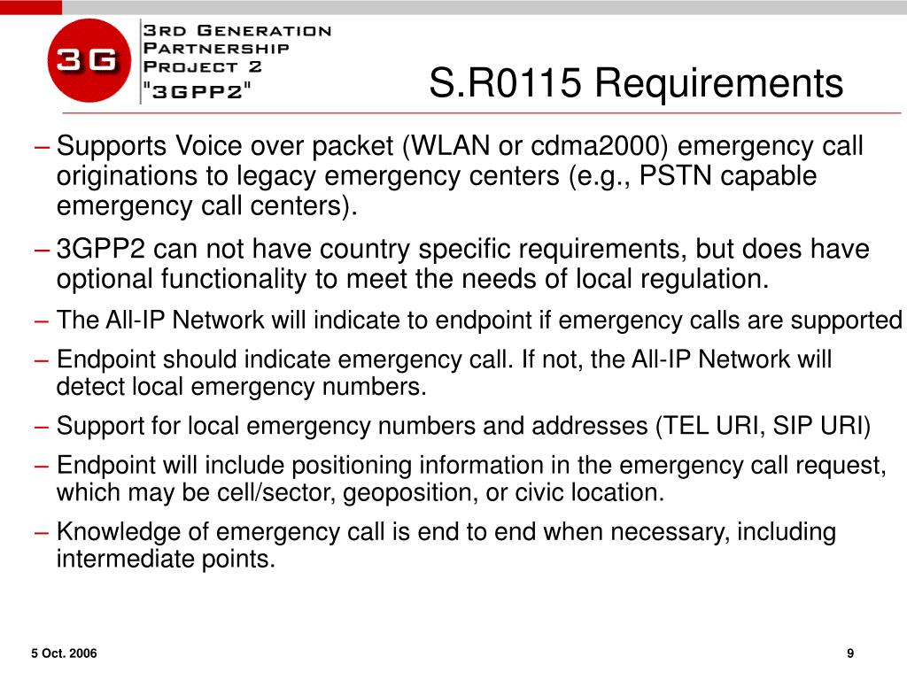 S.R0115 Requirements