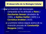 el desarrollo de la biolog a celular9