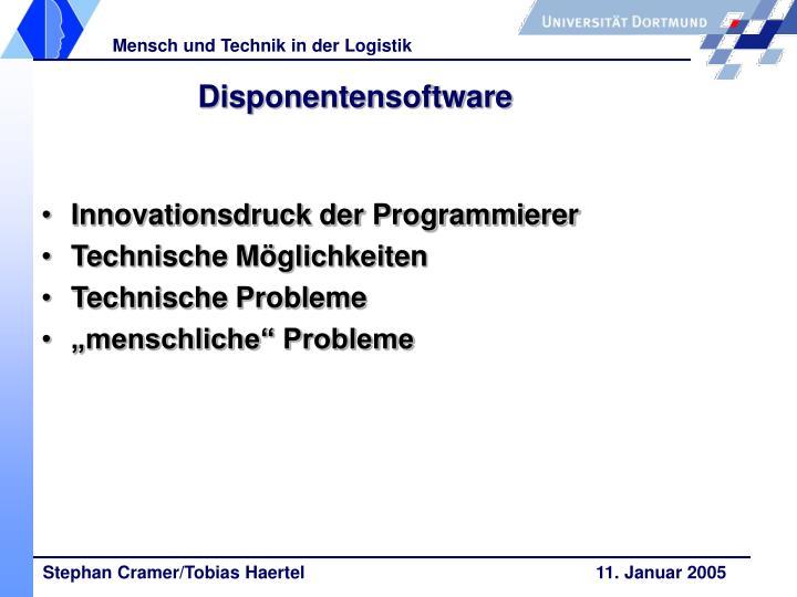 Disponentensoftware