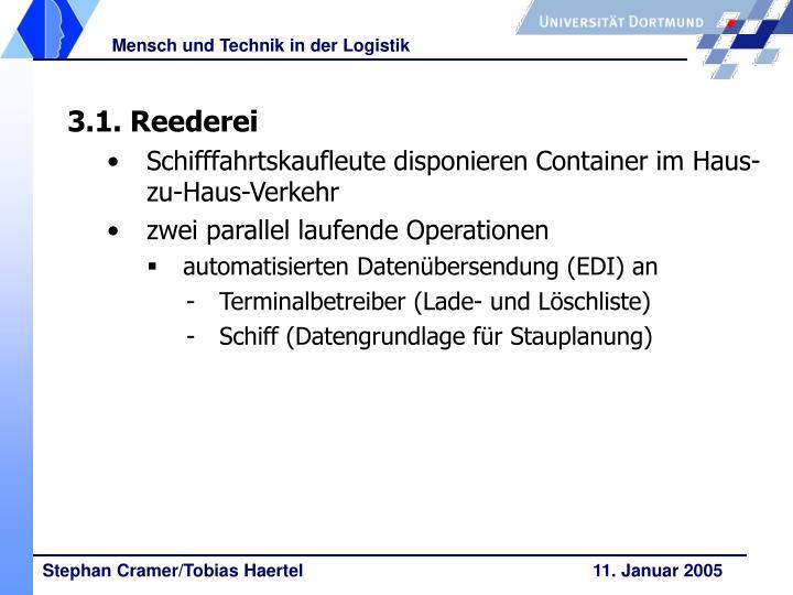3.1. Reederei